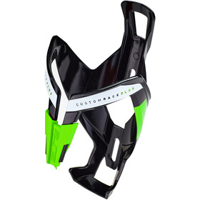 Elite Custom Race Plus Flaskeholder, glossy black/green design